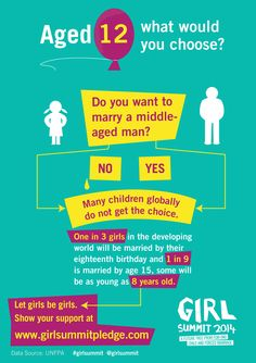@GirlSummit: The saddest flowchart you're likely to see today. Help improve the lives of girls #GirlSummit
