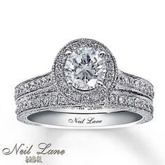 Neil Lane's Eiffel Tower ring. Kay Jewelers Diamond Bridal Set 2 ct tw Round-Cut 14K White Gold