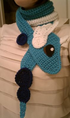 Dragonair Pokemon Scarf by sandigurumi on Etsy, $62.00
