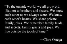 Brother and Sister Quotes Siblings | ... words #claraortega #siblings #Brothers #sisters #special #bond #family