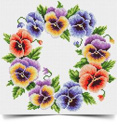 Buy 1 GET 1 FREE Cross stitch pattern PDF - Flower wreath wreath cross stitch floral cross stitch flower cross stitch flowers cross stitch Cross Stitch Rose, Cross Stitch Flowers, Cutwork Embroidery, Cross Stitch Embroidery, Cross Stitching Tiny Cross Stitch, Simple Cross Stitch, Cross Stitch Flowers, Cross Stitch Kits, Cross Stitch Designs, Cross Stitch Patterns, Cross Stitching, Cross Stitch Embroidery, Embroidery Patterns
