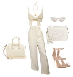 """""""Untitled #147"""" by jsmalves on Polyvore featuring Faithfull, CÉLINE, Valentino, Gucci, Giuseppe Zanotti, Alighieri, Versace and Givenchy"""