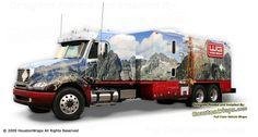 Houston Wraps - Wood Group - Mountain Wireline Truck Wrap