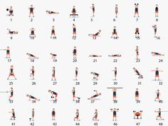 48 exercises which are necessary to get a fit body. Follow this as in image & get fit & #WOW #body.