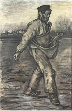 Vincent van Gogh Sower, The Drawing |Pinned from PinTo for iPad| |Pinned from PinTo for iPad|