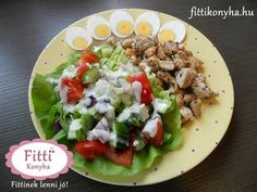 csirkemell saláta - Finom fogyókúrás receptek egészségesen! Cooking Recipes, Healthy Recipes, Cobb Salad, Food Processor Recipes, Healthy Lifestyle, Food And Drink, Mexican, Yummy Food, Lunch
