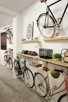 Bike Storage Idea Under Shelf