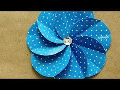Flor Espiral · Scrapbook Spiral Flower