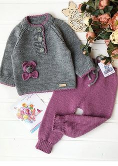 Ideas For Crochet Sweater Dress Pattern Doll Clothes Knitted Baby Outfits, Knitted Baby Clothes, Knitted Romper, Crochet Doll Clothes, Crochet Kids Hats, Knitting For Kids, Baby Knitting Patterns, Hat Crochet, Girls Sweaters