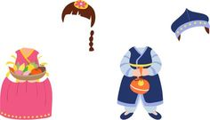 Paper Doll Costume, Paper Dolls, Diy And Crafts, Crafts For Kids, Arts And Crafts, Pop Up Frame, Art N Craft, Korean Art, Korean Traditional