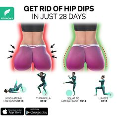 Full Body Gym Workout, Gym Workout Videos, Gym Workout For Beginners, Fitness Workout For Women, Butt Workout, Easy Workouts, Hip Dip Exercise, Buttocks Workout, Hips Dips