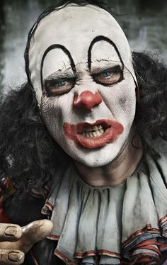 'Psychoville' (TV) by Reece Shearsmith & Steve Pemberton. Clown Faces, Creepy Clown, Steve Pemberton, Reece Shearsmith, League Of Gentlemen, Dark Fairytale, Punch And Judy, Send In The Clowns, Evil Clowns