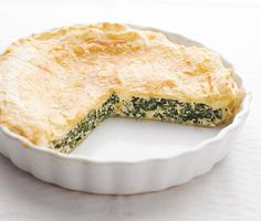 Spenótos-tejfölös pite - Stahl.hu Spanakopita, Cake Recipes, Vegetarian, Ethnic Recipes, Food, Steel, Easy Cake Recipes, Essen, Baking Recipes