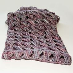 Cascading Cables Cowl by Kim Miller. malabrigo Sock, Lotus colorway.
