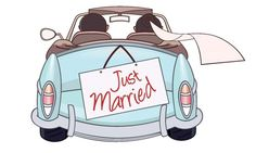 36 ideas for just married cars illustration clip art Wedding Images, Wedding Cards, Wedding Gifts, Just Married Auto, Wedding Wishes Messages, Guest Book Tree, Sunflower Wallpaper, Couple Illustration, Vintage Greeting Cards
