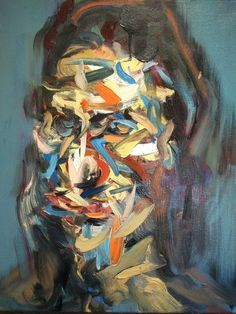 """Saatchi Art Artist Han Xiao; Painting, """"2016.06.18 Face"""" - Featured on How to Create an Art Vignette in 5 Steps - http://canvas.saatchiart.com/decor/how-to-create-an-art-vignette-in-5-steps"""