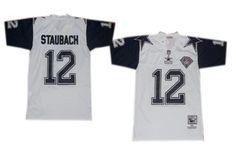 8ade3eaa5 ... Dallas Cowboys 12 Roger Staubach White Thanksgivings 75TH Throwback  Jersey ...