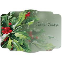 Wholesale Holly Greetings Placemats 1000 ct - Napkins.com