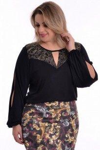 Blusa Plus Size Deluxe Black
