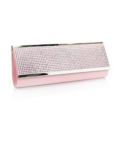 (Pink)Gorgeous Acrylic Rhinestones/ Satin Shell Evening Handbags/ Clutches  (012013432)