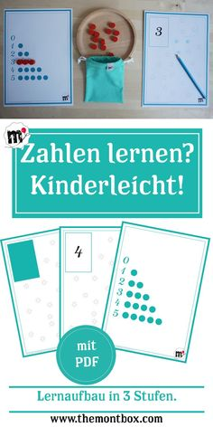 Kinderleicht die Zahlen lernen , The Effective Pictures We Offer You About Montessori Education what is A quality picture can tell you many things. You can find the Preschool Pictures, Preschool Themes, Numbers Preschool, Montessori Education, Montessori Materials, Infant Activities, Math Activities, Kindergarten Learning, Teaching