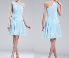 light blue bridesmaid dress short bridesmaid dress by fairybridal, $89.00