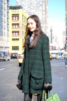 Street Style: Fei Fei Sun Is Picture Perfect in Tweed