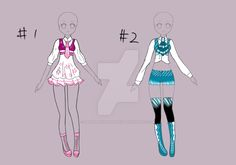Custom design for Starrykins by Tropic-Sea on DeviantArt Anime Outfits, Cool Outfits, Simple Dress Pattern, Anime Dress, Fashion Art, Fashion Design, Drawing Clothes, Prom Night, Cosplay