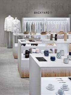 'backyard by | n' — an original brand exclusive to the japanese designer's own products — located in the seibu sogo department stores in tokyo's ikebukuro and shibuya, and in the yokohama sogo space.
