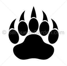 Bear paw print silhouette clip art. Download free versions of the image in EPS…