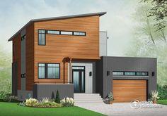 casa moderna revestida en madera