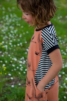 The Nore dress pattern by Compagnie M. sewn with Nosh organic fabrics