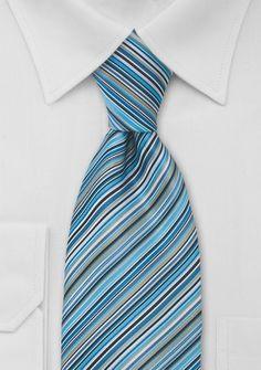 Aqua Blue Striped Necktie...$10 on Cheap Neckties