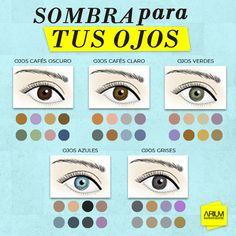 [#ARIUM] Sácale provecho a tu mirada y utiliza La sombra ideal según el color de tus ojos. #LuceIncreible #ARIUM