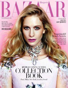 awesome HARPER\'S BAZAAR CORÉIA | Capa e Editorial Moda Janeiro 2013 | Poppy Delevigne