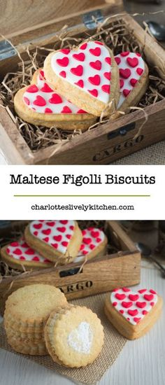 My take on the traditional maltese figolli biscuit - Lemon and orange blossom biscuits sandwiched with a delicious almond filling. Easter Biscuits, Cookies Et Biscuits, Cookie Recipes, Dessert Recipes, Biscuit Sandwich, Easter Cookies, Valentine Cookies, Easter Treats, Valentines