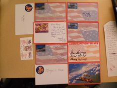 10 AVG FLYING TIGERS -AUTOGRAPHS/SIGNED INDEX CARDS-