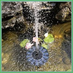 Solar Powered Pond Fountain Water Pump Lotus Leaf Floating Garden Solar Pump For Law Submersible Pumps. Solar Powered Water Pump, Solar Water, Solar Powered Lights, Floating Garden, Pond Fountains, Submersible Pump, Solar Energy System, Diy Solar, Outdoor Lighting