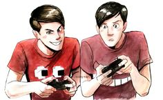 Arting — Finished version of Dan and Phil watercolour of...