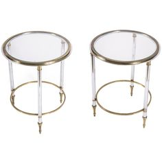 1stdibs - Pair of Brass & Steel Side Tables explore items from 1,700  global dealers at 1stdibs.com