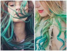 cabelos coloridos ombre