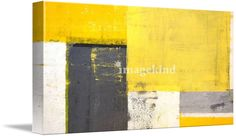 abstract paintings yellow and grey - Google Search