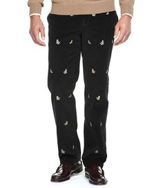 Thanksgiving Corduroy Embroidered pants..... | Festive & Fun Mens ...