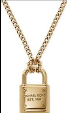MK padlock Necklace