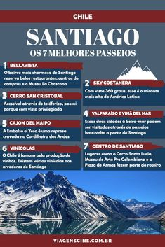 What to do in Chile: Travel Guide and Landmarks – Travel World Have A Nice Trip, Christmas In Europe, Bangkok Travel, Chili, South America Travel, Honeymoon Destinations, Vacation Trips, Travel Around The World, Trip Planning