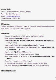 cover letter for software testing profile
