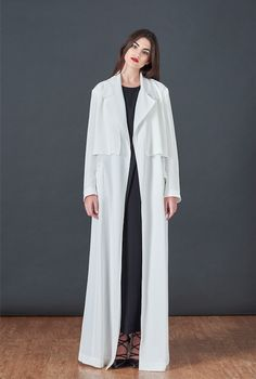 BOUGUESSA F/W15-16 Collection - Belted Trench Coat Abaya