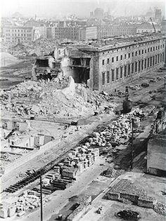 Berlin Neue Reichskanzlei - Demontage der Ruine (1950)