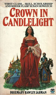 Crown in Candlelight by Rosemary Hawley Jarman. Book Authors, Image Search, My Books, Medieval, Crown, Cover, Corona, Mid Century, Middle Ages