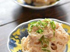 れんこんチーズチップス。 by happy sky Asian Recipes, Ethnic Recipes, Potato Salad, Menu, Snacks, Cooking, Food, September, Happy